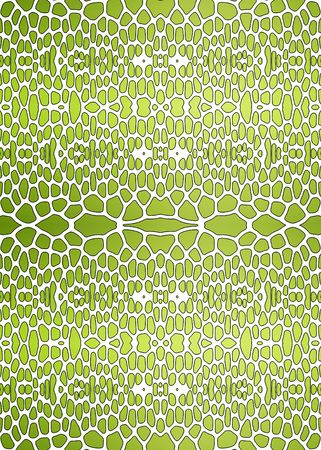 An illustration of a nice green snake texture illustration