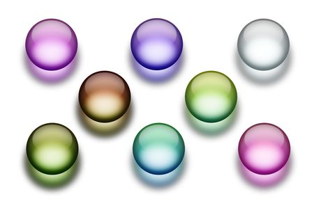 An illustration of 8 different aqua buttons illustration