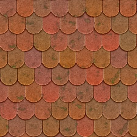 roof tiles: An illustration of a nice seamless roof texture Stock Photo