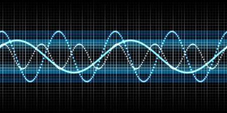 oscillograph: An illustration of a nice abstract seamless sound wave Archivio Fotografico