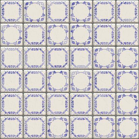 ceramic: An illustration of a nice seamless Delft tiles texture Stock Photo
