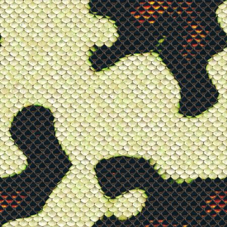 An illustration of a seamless snake skin background Stock Illustration - 5851204