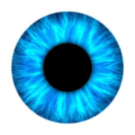 dilated pupils: An illustration of a nice blue iris texture Stock Photo
