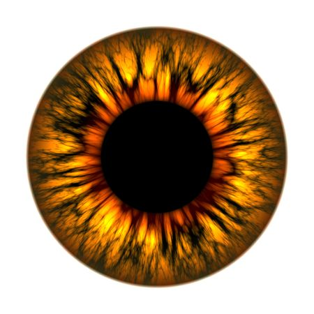 wide open: An illustration of a fire eye texture Stock Photo
