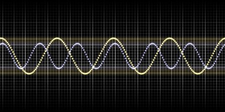 pulsing: An illustration of a nice sound wave graphic