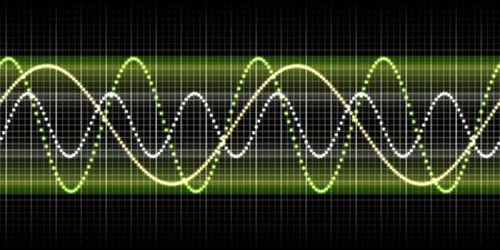audio wave: An illustration of a nice sound wave graphic