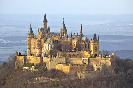 A photography of the german castle Hohenzollern photo