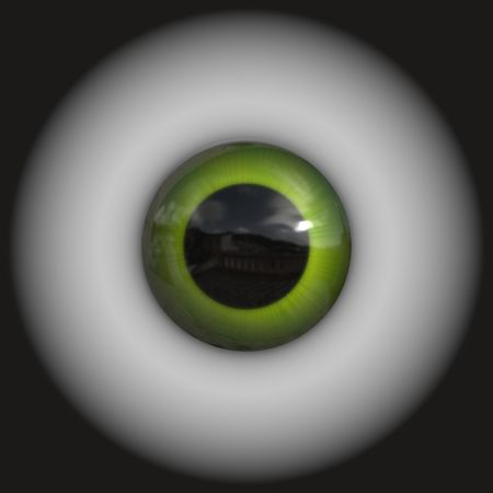dilated pupils: An illustration of a nice green iris texture
