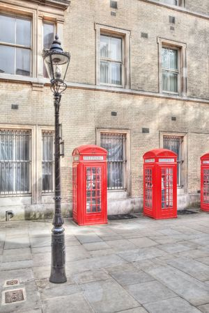 A red phone box in London UK photo