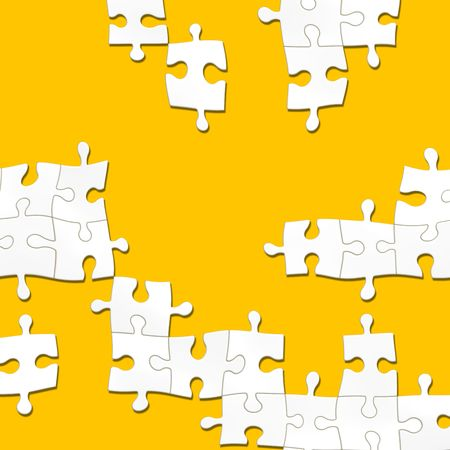 An illustration of a nice white puzzle texture Stock Illustration - 6069330