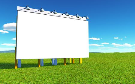 An illustration of a white advertising wall Stock Illustration - 6109802