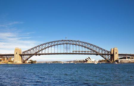 puente: Una fotograf�a del puente del puerto de Sydney