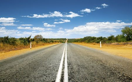 A photography of a road in Australia photo