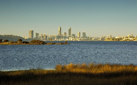 A photography of the skyline of Perth photo