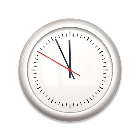 An illustration of a big white clock Stock Photo