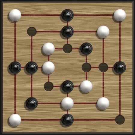 morris: An illustration of a nine men�s morris game