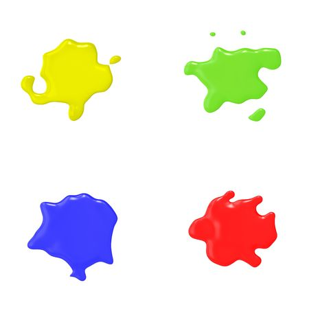 An illustration of 4 nice abstract color splashes illustration