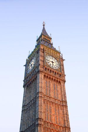 corner clock:  of the Big Ben in London UK