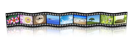 exclusive photo: An illustration of a film strip with nice pictures Stock Photo