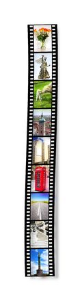 An illustration of a film strip with nice pictures Stock Photo