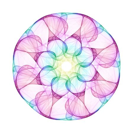 kaleidoscope: An illustration of a nice colorful mandala