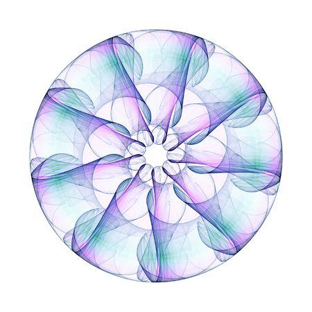 Un'illustrazione di un simpatico mandala colorato