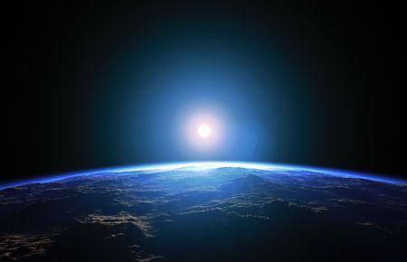 Een afbeelding van een mooie diepe ruimte planeet achtergrond