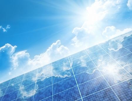 energia solar: Un paneles solares Foto de archivo