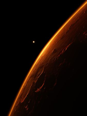 An illustration of the red planet mars Stock Illustration - 6912939