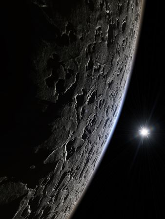 An illustration of a nice deep space moon background Stock Illustration - 6913034