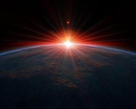 Een afbeelding van een mooie diepe ruimte planeet achtergrond  Stockfoto - 6912942