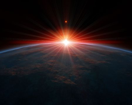 energia espiritual: Una ilustraci�n de un fondo de planeta agradable de espacio profundo