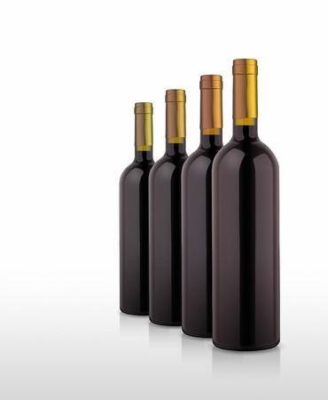 closed corks: An illustration of some nice wine bottles