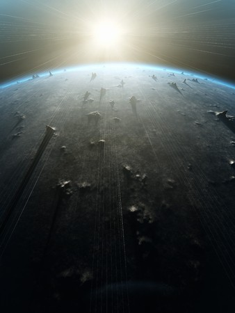 An illustration of a nice deep space planet background Stock Illustration - 6913279