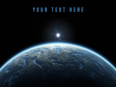 Een mooie diepe ruimte planeet achtergrond met kopieer ruimte voor uw tekst  Stockfoto