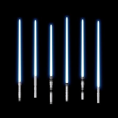 An illustration of some blue laser light saber Stock Illustration - 7008105