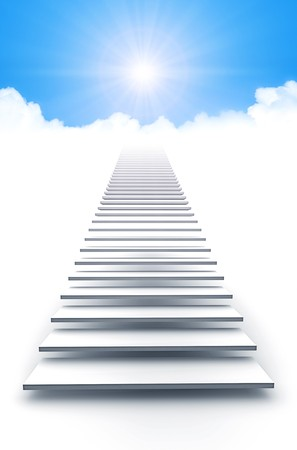 An image of a white stairway to heaven Stock Photo - 7072854