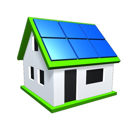 photovoltaic: An image of a nice house with solar panels