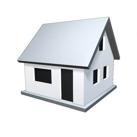 An image of a nice small house isolated photo
