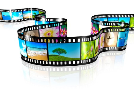 film strip: An image of a film strip with nice pictures Stock Photo