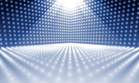 light show: An image of a stage lights background Stock Photo