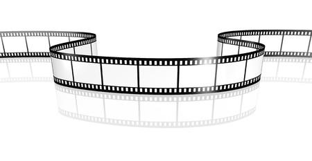 strips: An image of a film strip white
