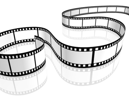 An image of a film strip white photo