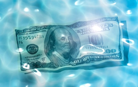 An image of 100 Dollar in the water Stock Photo - 7376786