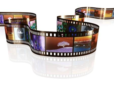 cinta pelicula: Una imagen de una tira de pel�cula negativa con im�genes