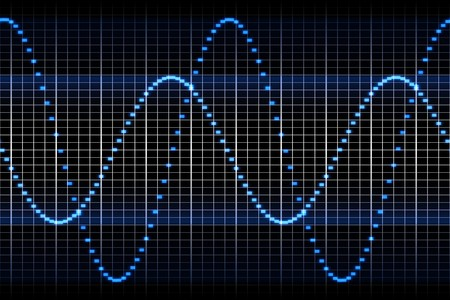 wave sound: An image of a sound wave graphic