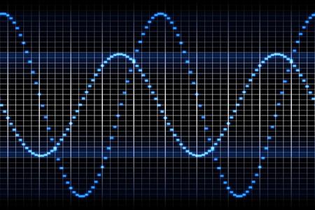 ruido: Una imagen de un gr�fico de la onda de sonido  Foto de archivo