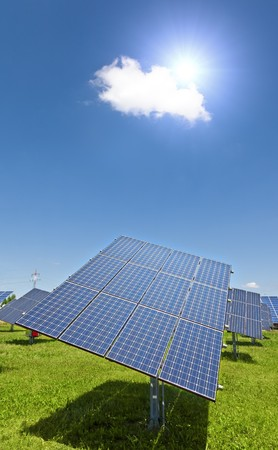 panel: An image of a big solar plant