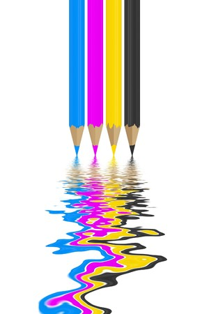 ink in water: A nice image of the CMYK colors