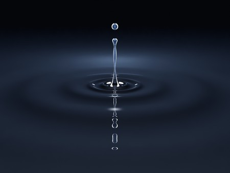 rain drop: An image of a black water drop background Stock Photo